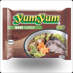 Soupe nouilles yum-yum boeuf